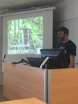 Guest lecture during the Cultural Heritage course from a local company owner, WildSweden