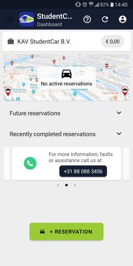 Nieuwe reservering