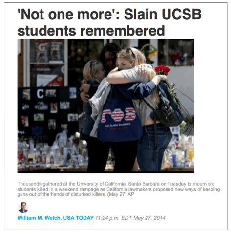 UCSB |  Student Caring | Not One More