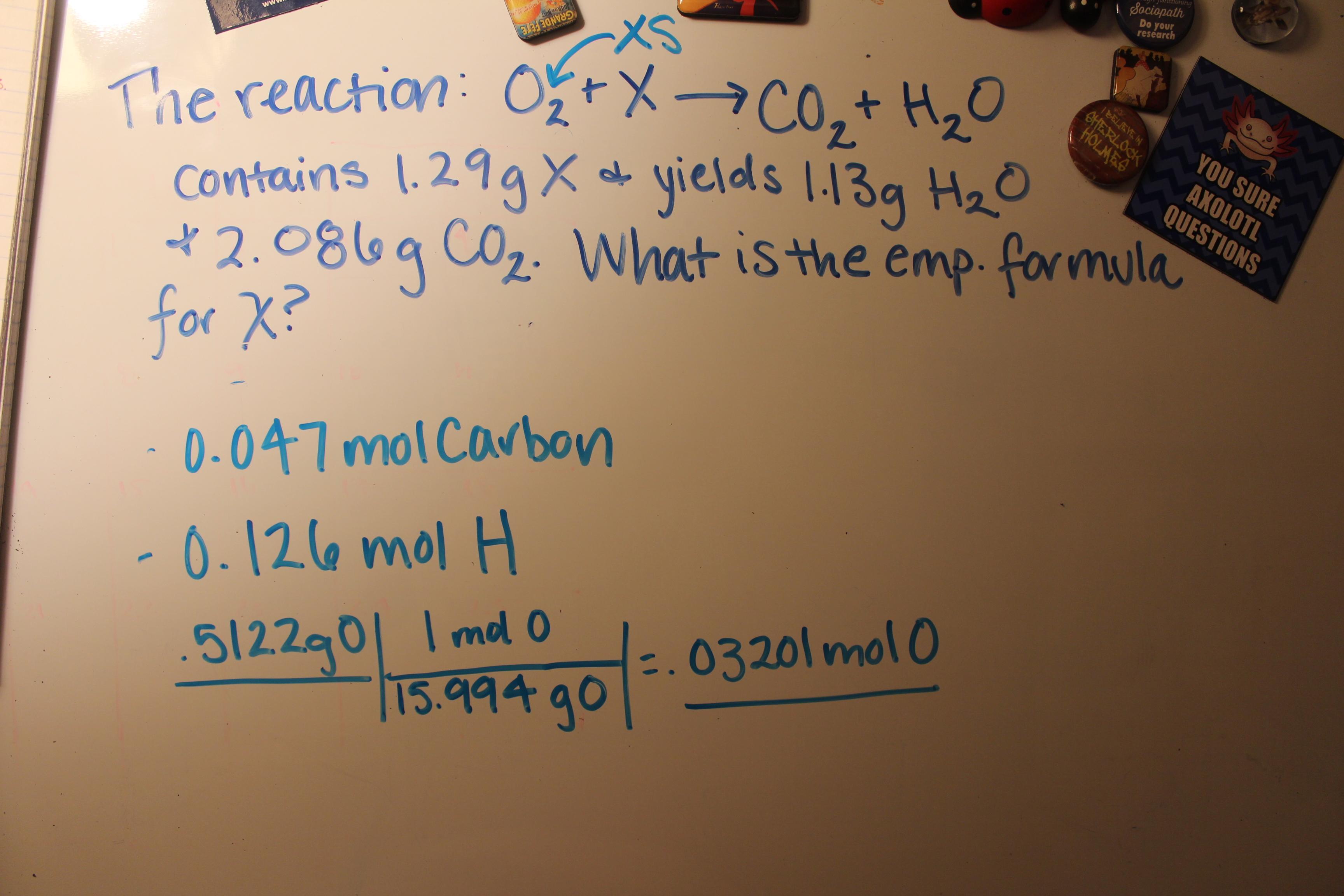 Determining Empirical Formula Example