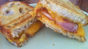 bacon cheese toastie