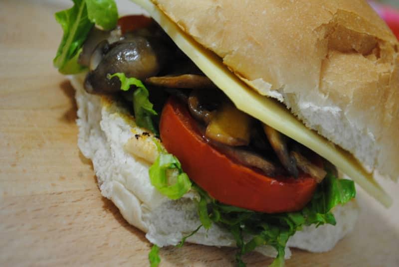 Fully loaded Mushroom Sandwich