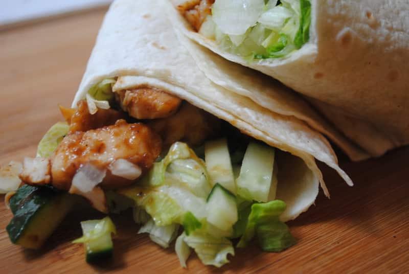 Hoisin chicken (or turkey) wrap