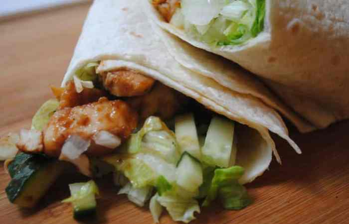 Hoisin chicken (or turkey) wrap