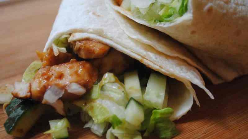 Hoisin chicken wrap 1