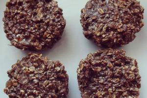 Chocolate Protein Oat Muffins