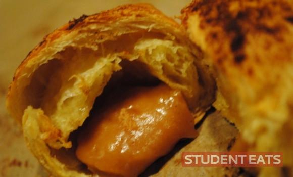 Sweet melting fudge croissants