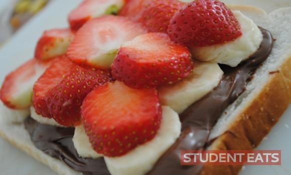 strawberry, banana toastie