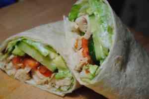 Chicken salad wrap recipe - 1