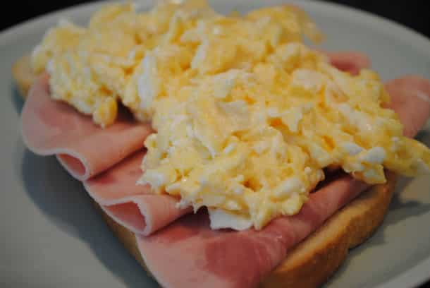 Hangover scrambled egg breakfast