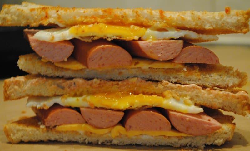 hot dog toastie