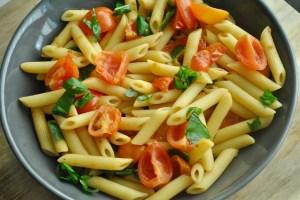 tomato basil pasta vegan recipe - 2