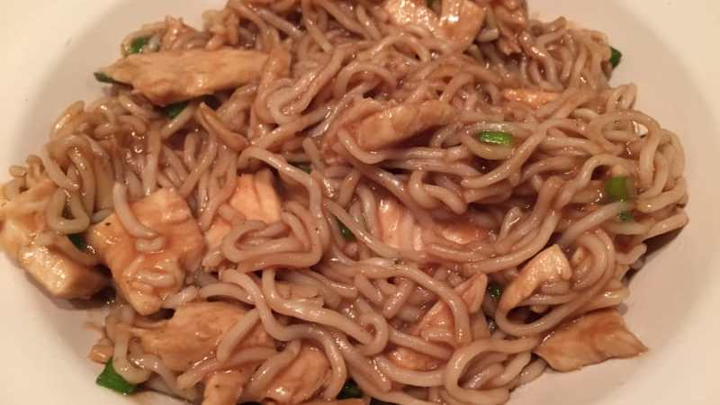 hoi sin chicken noodles recipe