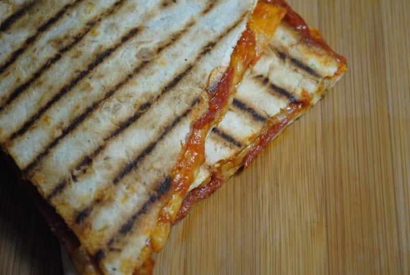 Simple Pepperoni Pizza Quesadillas