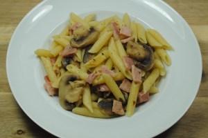 Bacon, Garlic And Mushroom Pasta Recipe - 1
