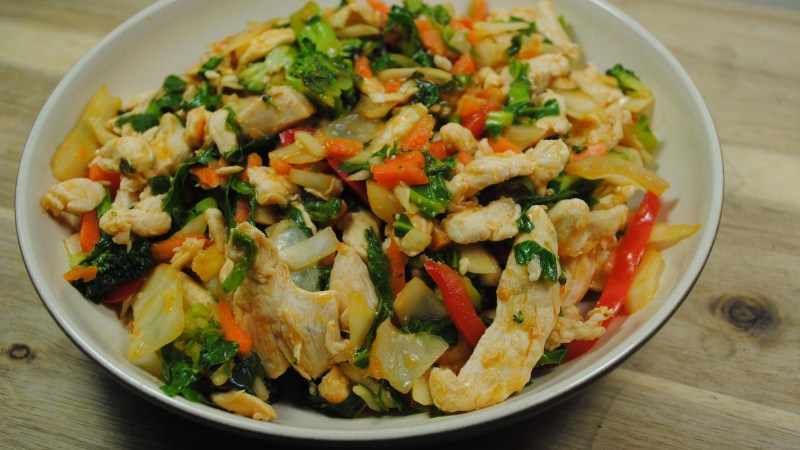 Chicken and Vegetable Sweet and Sour Stir fry recipe - 2
