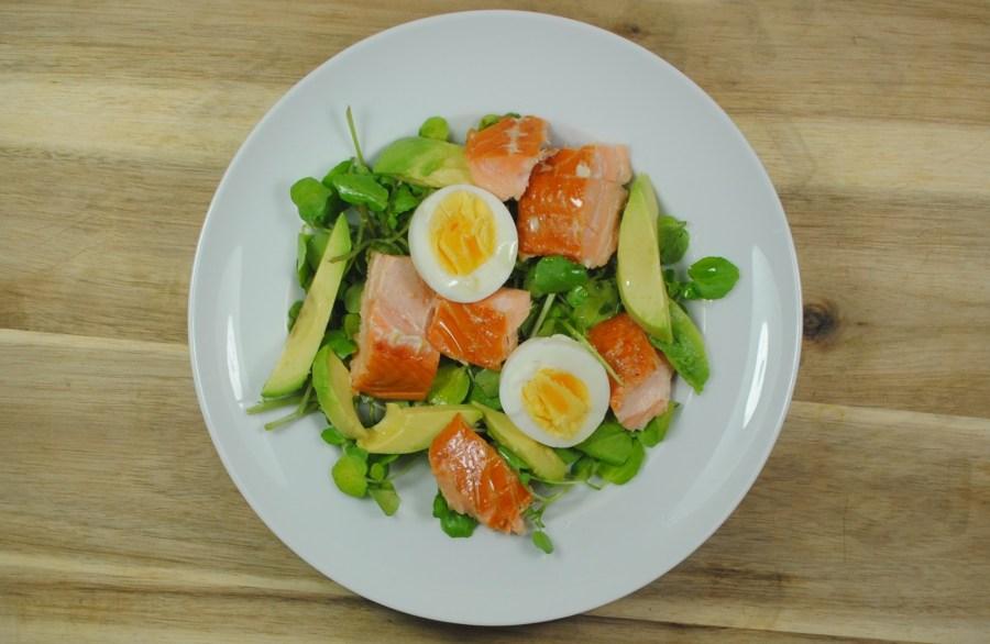 Healthy Salmon, Avocado and Egg Salad Recipe - 1