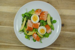 Healthy Salmon, Avocado and Egg Salad Recipe - 1