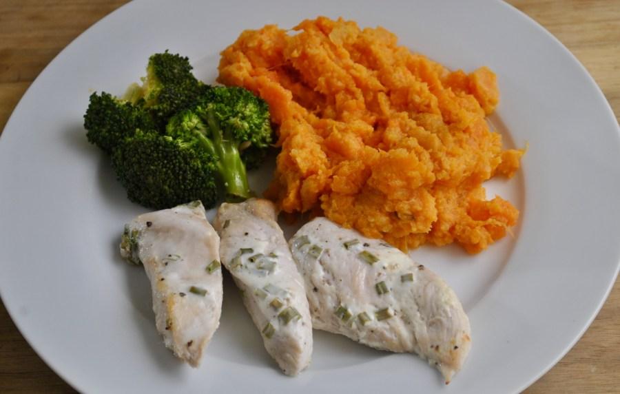 Mustard Chicken Swede Sweet Potato and Carrot Mash recipe - 1