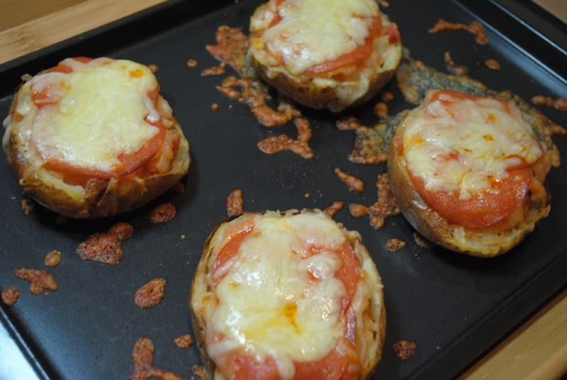 Pizza baked jacket potato