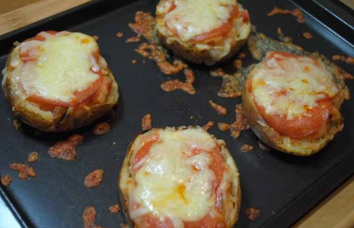 Pizza baked jacket potato