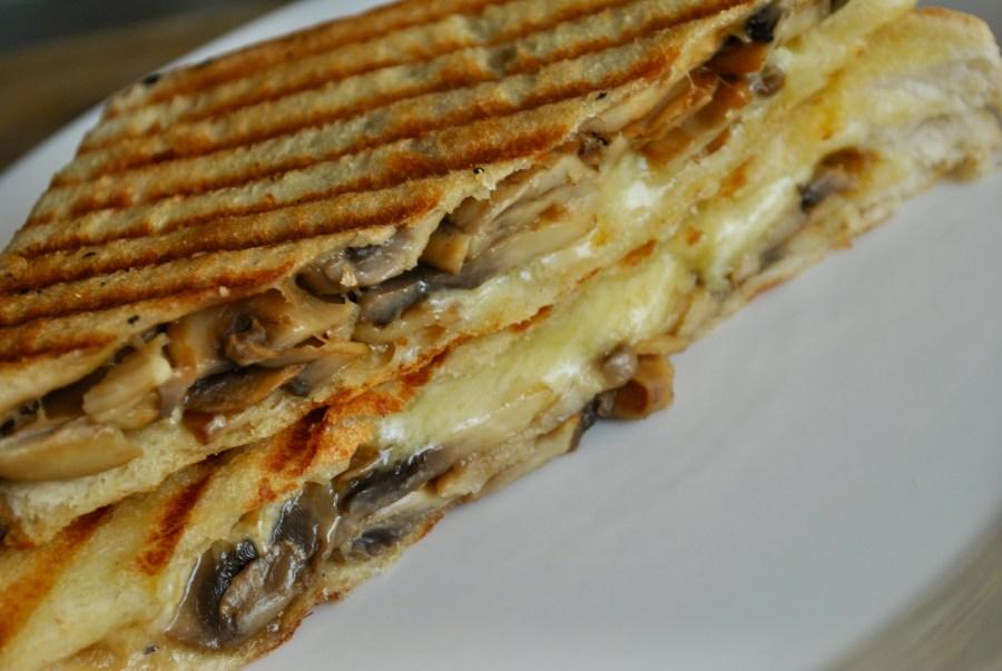 mushroom cheese toastie - 1
