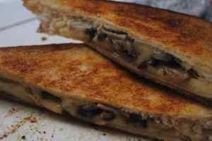 mushroom cheese toastie