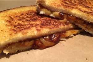 Barbecue cheese toastie
