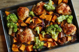 chicken sweet potato tray bake recipe - 2
