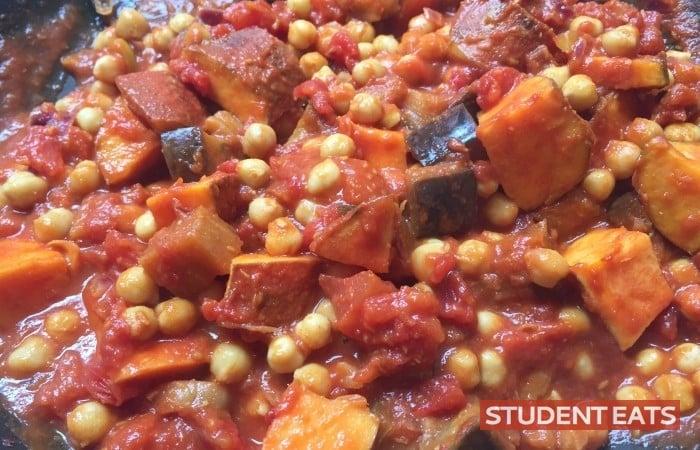 Aubergine Sweet potato Chickpea Curry recipe 4