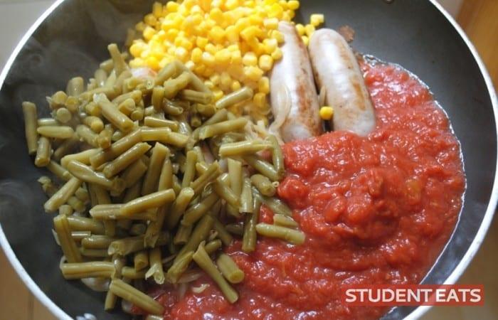 sausage ca Sausage Casserole student recipe 3