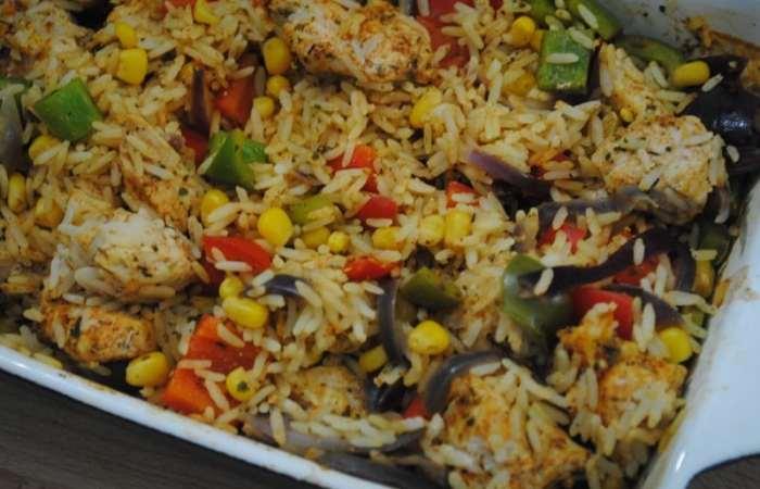 One Dish Cajun Chicken Rice