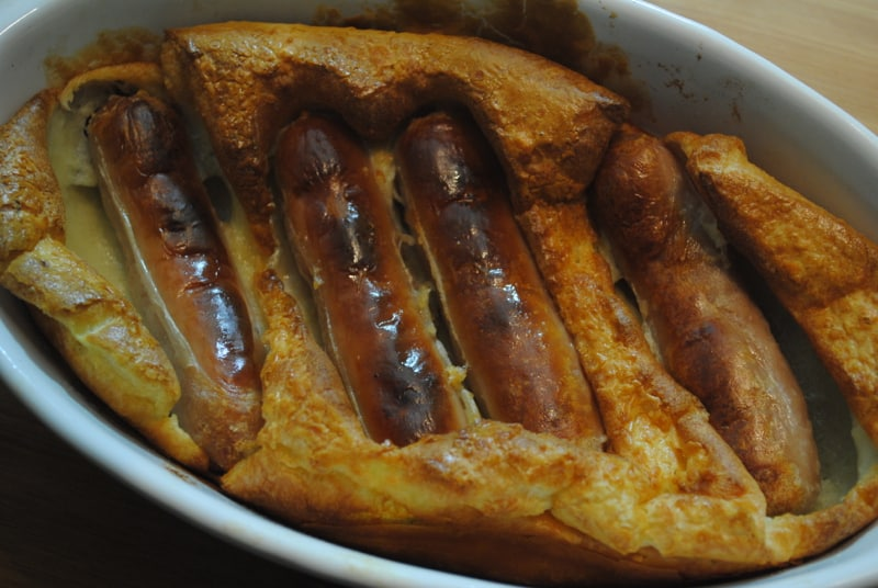 Homemade toad in the hole