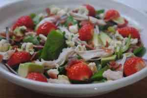 strawberry chicken salad 1