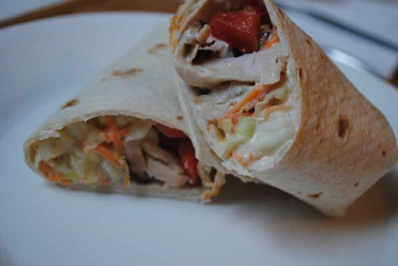 Turkey and coleslaw wraps