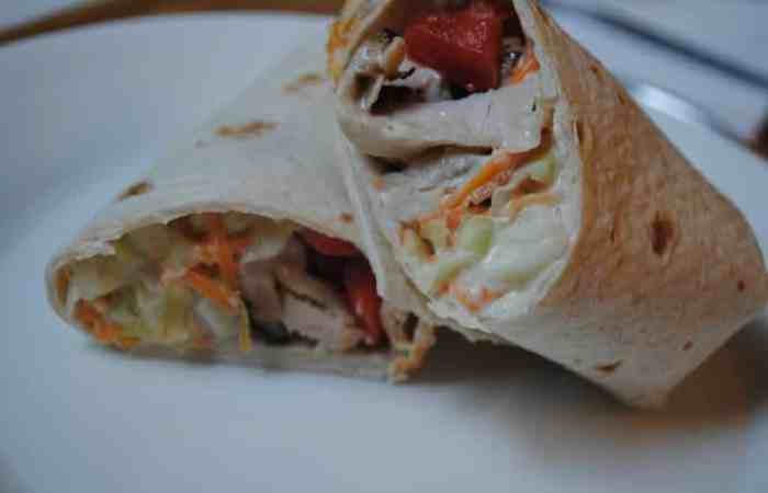 Turkey and coleslaw wraps