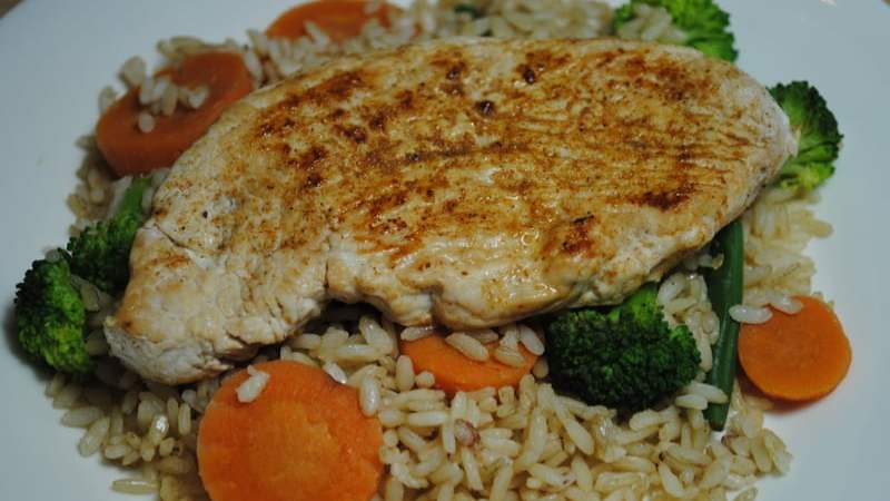 Chicken and Vegetable Brown Rice