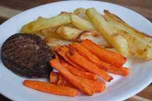 Healthy Vegetarian Steak and Chips - 1