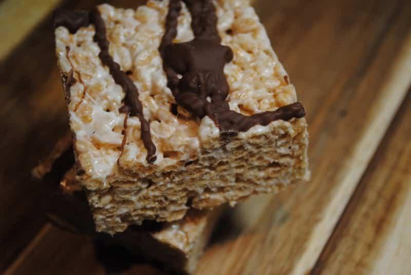 Ultimate Chocolate + Marshmallow Crispy Squares