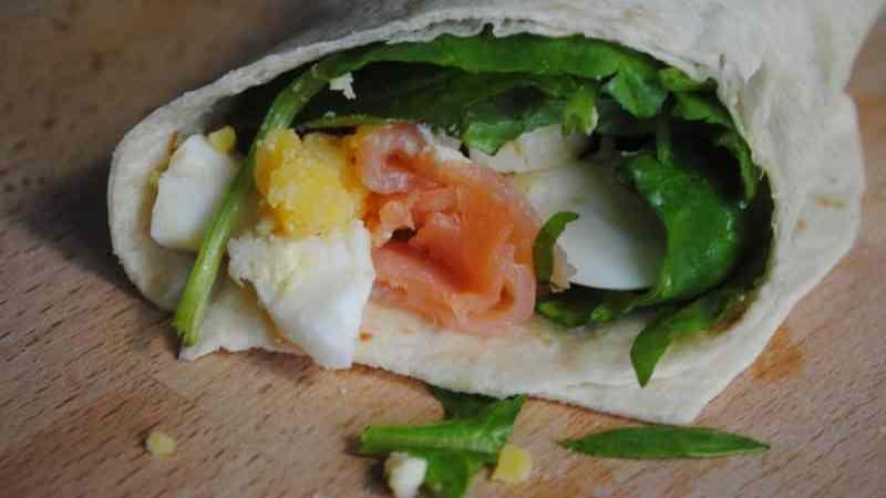 egg salmon wrap recipes - 1