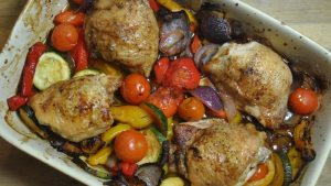 Healthy Lemon Roast Chicken Vegetable Recipe - 3