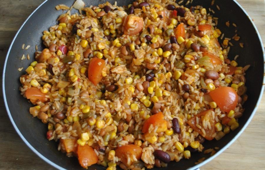 vegan veggie burrito rice recipe - 1