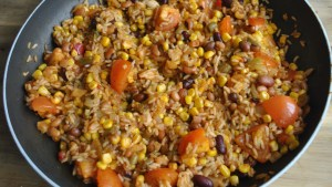 vegan veggie burrito rice recipe - 1