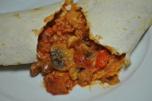Vegan Mixed Bean and Veggie Baked Wraps Recipe - 2