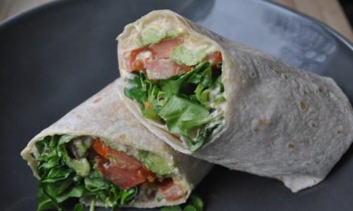 Vegan Hummus and Veggie Wrap recipe - 2