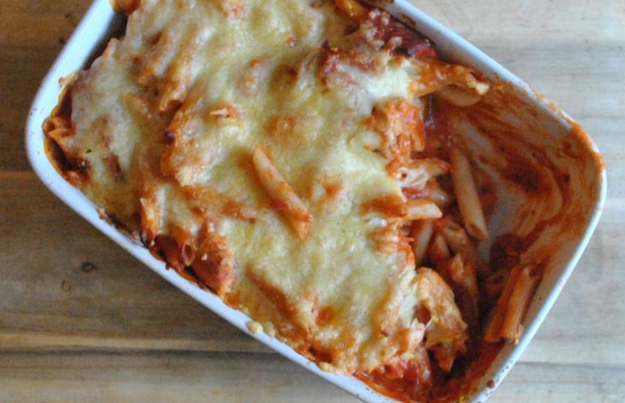 chorizo chicken pasta bake - 7