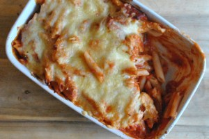 chorizo chicken pasta bake - 7