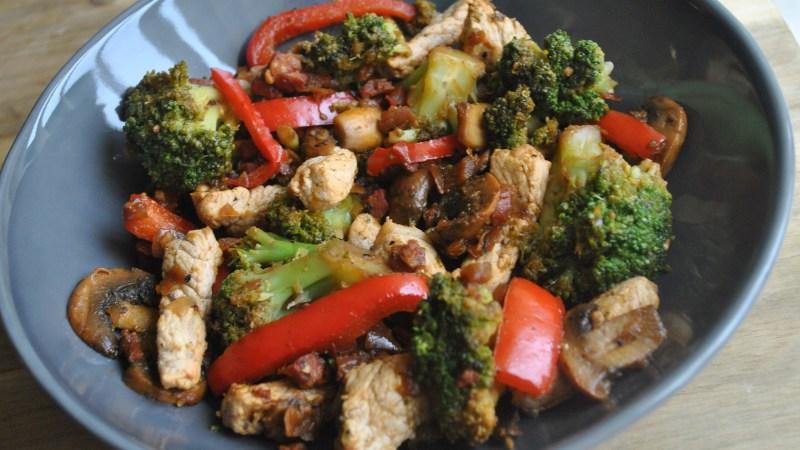 chorizo pork stir fry recipe - 2