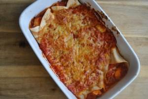 cheesy chicken & bean enchiladas recipe - 1