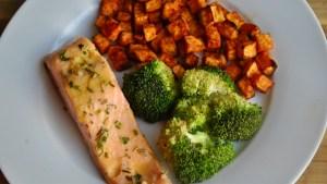 lemon salmon sweet potato broccoli recipe - 2